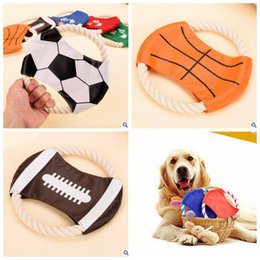 Köpek Uçan Diskler pamuk kordon frizbi Futbol Futbol basketbol rugby Tasarım pet frizbi Komik köpek oyuncaklar köpek eğitim oyuncaklar pet malzemeleri CLS77 cheap dog discs nereden köpek diskleri tedarikçiler