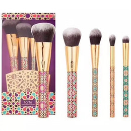 Make Up Brush set 5 pezzi pennello con supporto spazzole 1 set legno Nylon Foundation Eye Shadow correttore Pennelli Trucco Strumenti R0342 da