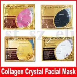 Pele de folha on-line-4 estilos máscara facial de colágeno máscara facial de ouro em pó de cristal colágeno máscara facial folhas hidratante anti-envelhecimento beleza cuidados com a pele