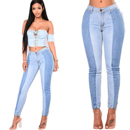 jeans ajustados cintura baja Rebajas Para mujer Vaqueros ajustados bajo de las mujeres de la cintura ajustado de Strech Calentar Tamaño Pantalones vaqueros Pantalones Lápiz Delgado Plus de contraste de gran tamaño Jeans de color