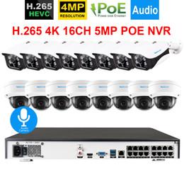 Sistema de seguridad hdmi online-16CH H.265 POE cctv System 16CH 5MP NVR 16XAudio Record Cámara de seguridad a prueba de vandalismo 4MP Onvif POE Cámara IP HDMI 4K Teléfono Vista