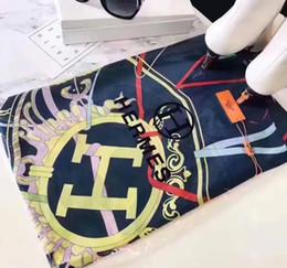 Sciarpe di seta online-Sciarpa di marca di seta per le donne 2019 primavera estate caldo designer floreale fiore di seta sciarpe lunghe scialli con tag S922