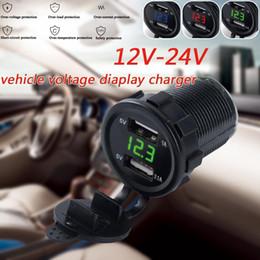 cables más ligeros Rebajas Dual USB cargador de coche de cigarrillos encendedor del coche zócalo de doble agujero de 1 a 2-Phone Cables adaptadores de cargador de sockets