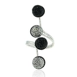 Jóias Românticas Liga Fabala Retro Simples Requintado Do Vintage Unisex Dedo Brilhante Conjunta Anel Elegante Resina Beads 2 Cores de