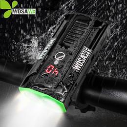 аккумуляторные фары Скидка WOSAWE Super Bright Встроенный аккумулятор Велосипедный свет Велосипедные фары Power Bank Водонепроницаемый светодиодный USB Аккумуляторная Велоспорт