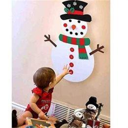 Natal, brinquedo, ornamentos, miúdos on-line-Atacado de Natal DIY feltro manual do boneco de neve Pendant Ornaments Início Kids Brinquedos Decoração Eco-friendly Design Criativo 17 5mC H1