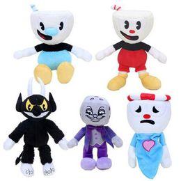 Coleção de videogames on-line-13 Estilos Jogo Cuphead Chalice Brinquedos de Pelúcia Mugman Ms. Cálice fantasma Rei Dice Cagney Carnantion Puphead Bonecos De Pelúcia Brinquedos para Crianças presentes