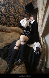 ciel phantomhive cosplay pieno Sconti Anime Black Butler Ciel Phantomhive Party Dress Costume Cosplay Set completo personalizzato Halloween Party per donne Uomini Costume