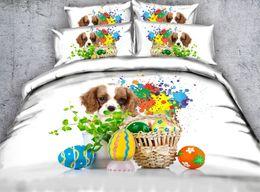 set di biancheria da letto quilt california Sconti Biancheria da letto per piumini per cani Biancheria da letto trapuntata di lusso copripiumino lenzuola lenzuola in una borsa California King Queen size full twin 5PCS