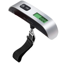 elettronica di visualizzazione Sconti Bilancia per bagagli portatile Display LCD a sospensione digitale Bilancia per bagagli elettronica Bilancia pesa 110 lb / 50kg GGA1778