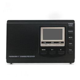 Reloj alarma digital Mini radio FM / MW / SW con el reloj digital receptor de radio FM desde fabricantes