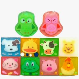 2019 sapone fatto a mano per freckles Liu naturale al 100% del fumetto di Animal Bath Body Works silicone portatile Sapone 10 stili 100g Cura della pelle per In bambini Stock