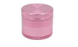 Pink Herb Grinder Crusher Tobacco Smoke Smoking Accessori Metal Grinder 50mm (1.97inch) 55mm (2.17inch) 63mm (2.48inch) da
