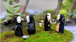 2019 conjuntos de brinquedos de unicórnio Estúdio Ghibli Spirited Away No Man Homem PVC Figura de Ação Miyazaki Hayao Anime Modelo Kaonashi 3.5 cm Decoração Boneca Crianças Brinquedos b983