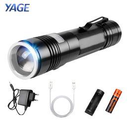 Canada Yage Q5 2000 lm Aluminium Zoomable 5-Modes Cree Led Usb Clip Lampe Torche Lampe Avec 18650 Batterie Rechargeable Yg -337c Lampe cheap clip lamps Offre