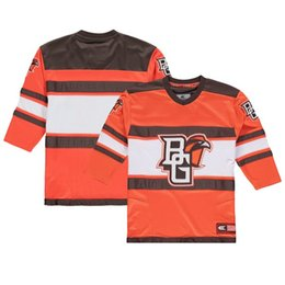 2578ae2da Custom Colosseum Orange Bowling Green St. Falcons Open Net II Hockey Jersey  Embroidered Bowling Green St Falcons ICE Hocky Jerseys ANY NAME 5xl hockey  ...
