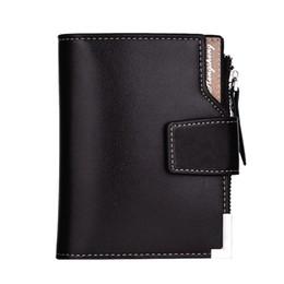 Quadrato tascabile online-Portafoglio uomo Fashion Poliestere Square Business tinta unita verticale Fibbia con cerniera Tri-fold Portafoglio Borsa per carte Portafogli F429