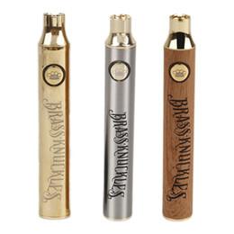 stylo e cigarette Promotion NOUVELLE batterie en laiton d'articulations en laiton 650mAh 900mAh Tension Variable préchauffer la batterie E-Cigarette Stylo Pour Atomiseur 510 cartouche d'épaisseur