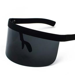 Большая рамка солнцезащитный крем анти-подглядывание шляпа очки мульти цельный высокое качество персонализированные маска солнцезащитные очки мода тенденция унисекс от