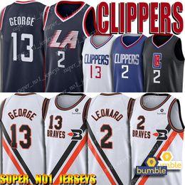 klassischer basketball-trikot Rabatt Clipper Jersey Kawhi 2 Leonard Jersey Buffalo Braves Jersey Paul 13 George Jerseys 2019-20 Classic Edition