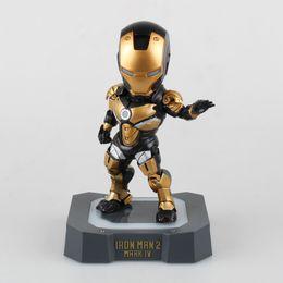 Deutschland Avengers Cartoon Iron Man MK4 Black Gold / Gold / Silber Modell Illuminated Boxed Handmodell Versorgung