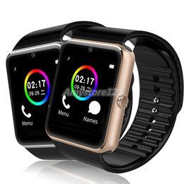 2020 android reloj inteligente nfc 1PCS GT08 Bluetooth Smart Watch con ranura para tarjeta SIM y NFC Health Watchs para Android Samsung y IOS Apple iPhone Smartphone Bracelet android reloj inteligente nfc baratos