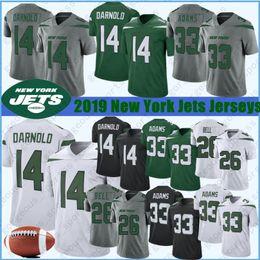 Camisa de sino on-line-26 Le Veon de Bell New Jersey Iorque Jet 33 Jamal Adams 14 Sam Darnold Futebol Jerseys 12 Joe Namath 95 Quinnen Williams 57 C. J. Mosley costurado