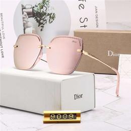 2019 occhiali lenses hd 2019 nuovo marchio di fascia alta di occhiali senza montatura delle donne moda occhiali da sole parziale lustro occhiali da sole lente ispessita hd occhiali lenses hd economici