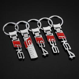 2019 llave kawasaki 2 Piezas de coches en 3D Logo Llavero de Auto anillo dominante sostenedor de la cadena Mando para Audi S4 S6 Sline RS RS4 Car Styling Accesorios