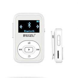 mp3 player blue bluetooth mini Promo Codes - Mini Original RUIZU X26 Clip Bluetooth MP3 Player 8GB Sport mp3 music player with Recorder FM Radio Support TF Card+Free Armband