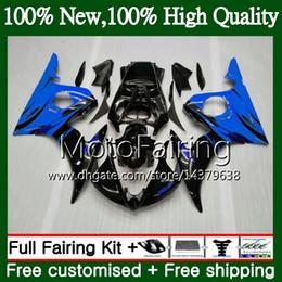 Yamaha yzf body kit online-Cuerpos Para YAMAHA YZF R6 S YZF600 YZFR6S 06 07 08 09 102MF9 YZF-600 Llamas azules YZF R6S YZF-R6S 2006 2007 2008 2009 Fairing Body Kit