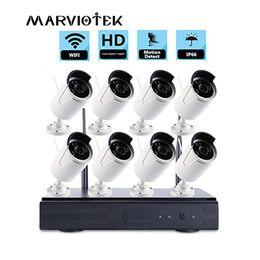 Câmera onvif dvr on-line-Câmera ip wifi nvr kit Sistema de Câmera de CCTV WiFi 2mp Sistema de Segurança sem fio outoor IR Kits de Vigilância de Vídeo DVR ONVIF