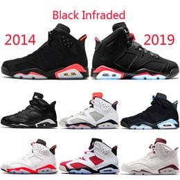 size 40 fd1bf fa622 Nike Air Jordan Retro 2019 Infrarouge 6 6s Hommes Chaussures De Basketball  Bred Tinker UNC Blanc Noir Chat Carmine Gatorade Marron Designer Créateur  Sport ...