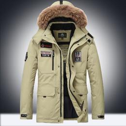 Großhandel Winter Baumwolle Parkas Jacken Männer Military Style Mittel Lange Kapuze Wintermantel Cotton Padded Warme Jacken Von Asiabeddingmall,