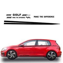 2020 calcomanías de golf Etiqueta engomada de la calcomanía del cuerpo del lado del coche para Volkswagen Golf Etiqueta engomada de la camioneta pickup del coche DIY Car Styling Decoración Blanco calcomanías de golf baratos