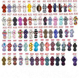 2019 recuerdos de boda gratis para invitados 175 Colores impresión de patrones Chapstick titular de la muchacha llaveros Chapstick del lápiz labial del partido para el llavero de regalo de San Valentín de los favores