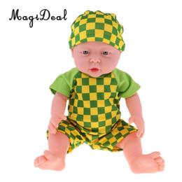 2019 poupées de bébés réalistes pour les enfants 41cm / 16inch simulation bébé poupée souple vinyle Bikini poupées jouer ensemble réaliste bébé poupée en vêtements verts enfants jouets poupées de bébés réalistes pour les enfants pas cher