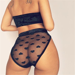 Reggiseno caldo imposta ragazza online-Hot Fashion New Sexy Mesh Sheer Bra Set Biancheria intima delle donne Ragazze senza fili in pizzo stampato Ruffle Lingerie reggiseno slip Set
