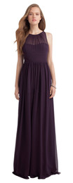 Júnior, dama de honra, vestidos, uva on-line-Beleza Uva Chiffon Jóia Júnior Dama de Honra Vestidos de Dama De Honra Vestidos de Casamento Do Partido Vestidos de Baile Personalizado Tamanho 2-18 KF101424