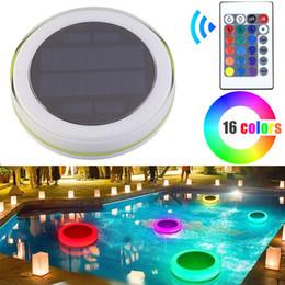 éclairage sous-marin pour piscines Promotion RVB LED piscine sous-marine de lumière solaire sous-marine de piscine extérieure flottant lumière décorative imperméable de LED avec à télécommande