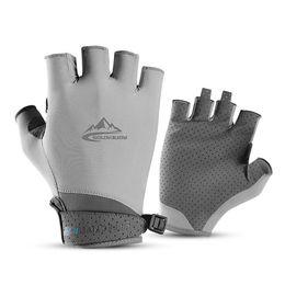 1Pair Hiking Soft Anti Scratch Fishing Glove Half+Full Fingers Sailing Gloves US
