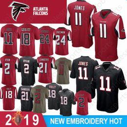 4d7518cc709 11 Julio Jones 18 Ridley Falcons Limited Atlanta Jersey 2 Matt Ryan 21  Deion Sanders 24 Freeman Football Jerseys Color Rush 2019 New