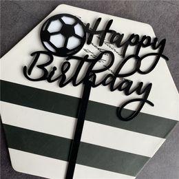 Argentina 1PC Deportes Fútbol Basket Ball tema del cumpleaños de la torta Boy Happy Birthday Cake Topper Banderas Decoración del partido de bricolaje Suministro