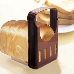corte de pão Desconto Casa Pequeno Almoço Brinde Slicer Ferramentas De Cozimento Fatiador De Pão Prático Pão De Cozinha Torradeira Corte DIY Slicer Bakeware Pão Splitter BH1342 TQQ