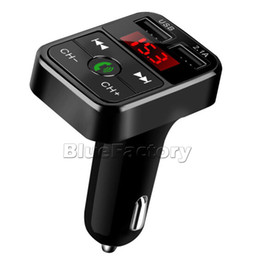 portable transmitter radio Promo Codes - 2019 New B2 Wireless Car FM Transmitter Wireless Radio Dual USB Bluetooth Mp3 Player Support Handsfree Call Portable For Car