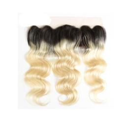 Вьетнамский шнурок онлайн-LEDON 13x4 Lace Frontal, Объемная волна, BW, Цвет 1B / 613, Плотность 130%, 100% вьетнамские волосы без Реми, 1 шт