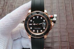 Aço final on-line-Novo iate V7 final luxo relógio 316L banda de aço relógio de luxo 40mm de diâmetro 3135 movimento mecânico automático dos homens relógio