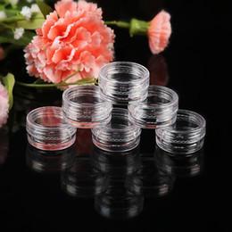 Pote de plástico transparente online-5g (0.17 oz) Claro Frasco de Envase de Plástico Vacío Pot 5 Gram Cosmetic Cream Sombra de Ojos Nails Powder Jewelry 5000 unids / lote