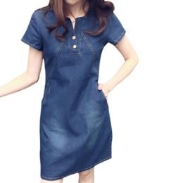 3c562b9236 ladies plus size denim dresses 2019 - Hot 2019 summer fashion elegant denim  dress hot sale