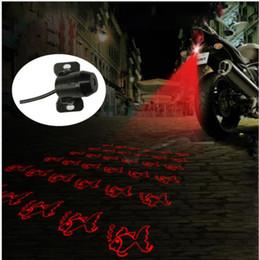 Laser anti-colisão on-line-Motocicleta Anti-colisão LED Laser Luzes de Nevoeiro Lanterna Traseira Anti-nevoeiro Motocicleta Cauda Nevoeiro Luz de Freio Lâmpada de Advertência KKA6506